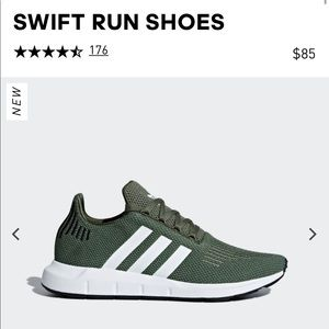 Adidas Olive Green Running Shoes